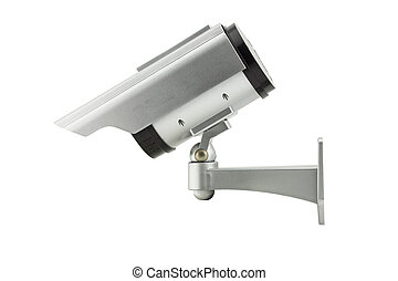 cctv camera isolated on white background - cctv(closed...