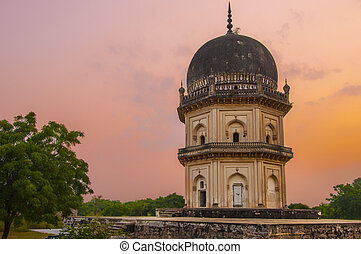 Qutub shahi Tombs - ancient structures built by the muslim...