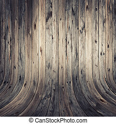 Weathered wood wall and floor.