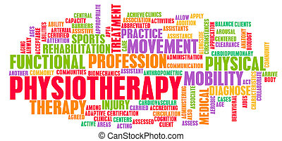 Physiotherapy as a Medical Career Concept Art