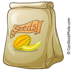 A pack of watermelon seeds - Illustration of a pack of...