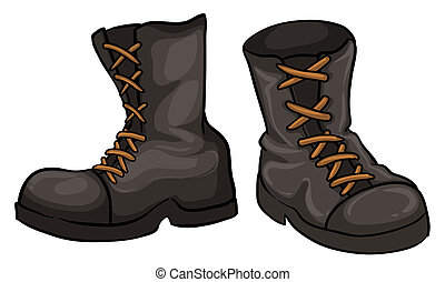 A pair of gray boots - Illustration of a pair of gray boots...