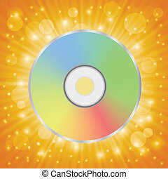 disc icon - colorful illustration with disc icon for your...