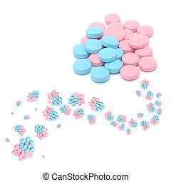 Creative Blue and Pink Pills
