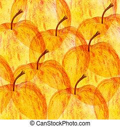 otoño, manzanas, Plano de fondo