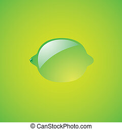 Lime on green background