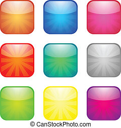 Set of glossy button icons