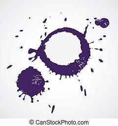 Drop ink splatter