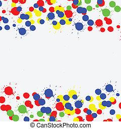 Color drop ink splatter