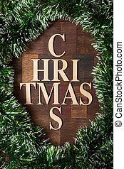 Wooden letters shaped christmas tree - Wooden letters shaped...