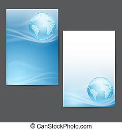 Conjunto, globo, fondos