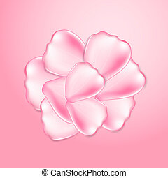 Beautiful pink rose petals. EPS10 vector.