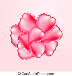 Beautiful red rose petals. EPS10 vector.