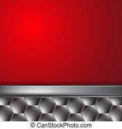 Metal background with place for text. EPS10 Vector.
