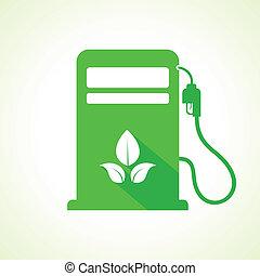 Bio fuel concept with petrol pump