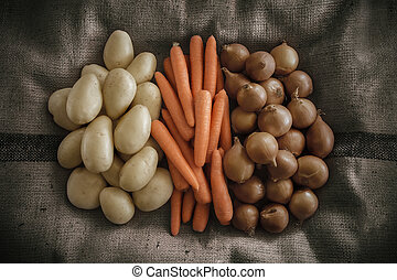 Root Vegetables - Onions, Carrots and Potatoes put together...