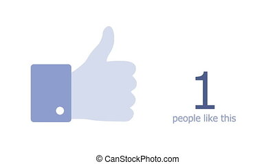 Thumb up icon With Numbers On Social Network