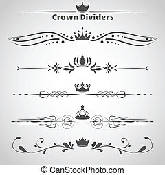 Set of dividers with crowns and decorative elements for...