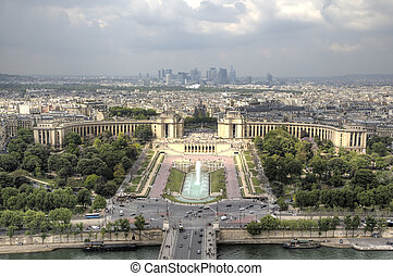 View of Paris from Eiffel Tower. Pa