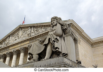 Statue near National Assembly. Paris, France