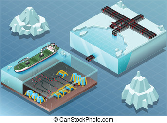 Isometric Arctic Subsea Farm and Tubes - Detailed...