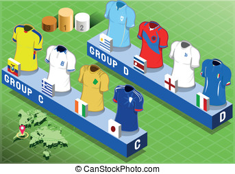Isometric Nations Groups for Soccer World Cup