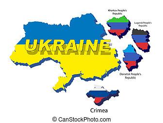 Separate regions of Ukraine, spring events in 2014. -...