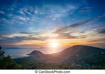 ko samui - Attractive seascape at twilight, ko samui,...