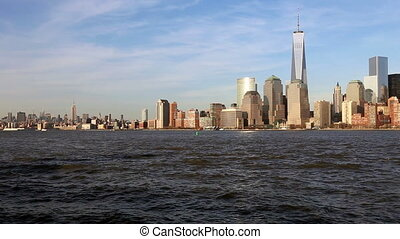 Manhattan Skyline, New York City - Manhattan Skyline as Seen...