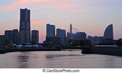 Yokohama, Japan - Yokohama Skyline at Sunset