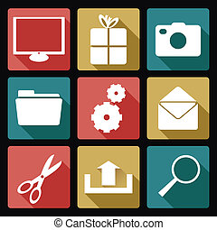 Computer icons - Vector image of collection of computer...