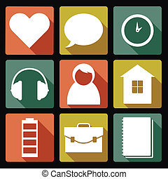 User icons - Vector image of collection of user icons