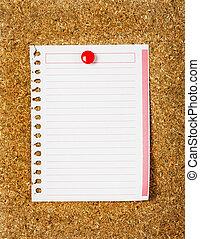 tabla, rayado, papel, Primer plano, corcho