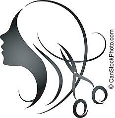 diseño, Womens, peluquería, salo
