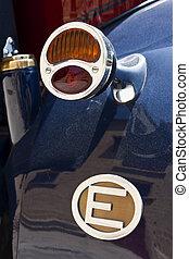 Vintage blinker. - Close-up of a vintage automobile blinker...