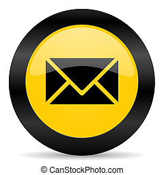 email black yellow web icon - new modern oryginal web icon