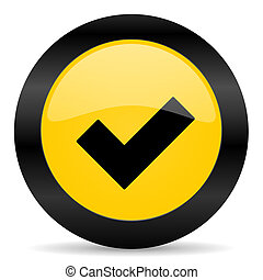 accept black yellow web icon - new modern oryginal web icon