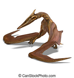 Quetzalcoatlus - rendering of the flying dinosaur...
