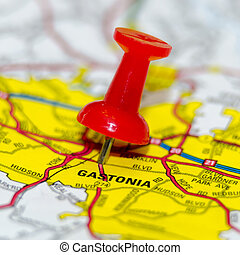 gastonia city pin on the map