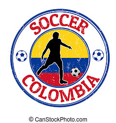 Colombia soccer stamp