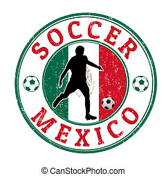 Mexico soccer stamp
