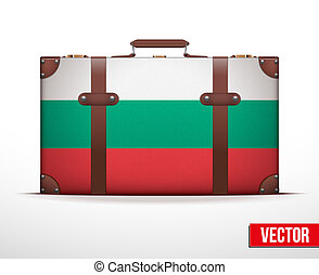 Classic vintage luggage suitcase for travel - Classic...