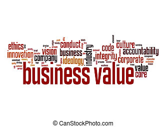 Business value word cloud