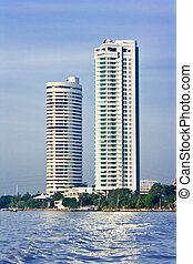 Highrise building near the Chao Praya river