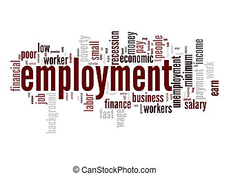 Employment word cloud