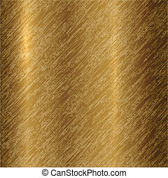 Vector abstract metallic bronze background with scratches