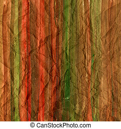 red brown and green watercolor abstract