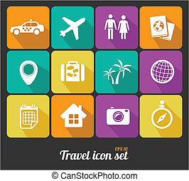 Vector Travel icons set