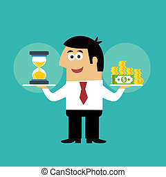 Business life time is money concept - Business life employee...