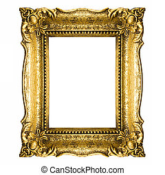 Vintage Gold Picture Frame - Old Gold Frame